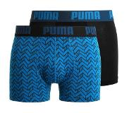 Puma BASIC GRAPHIC PRINT 2 PACK Hipster blue/black M