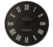 Riverdale Wandklok Grand Cafe Black