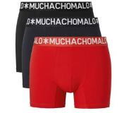 Muchachomalo 3-PACK COTTON SOLID BLACK, NAVY, RED, Small (Blauw, Navy, Rood, Zwart, S)