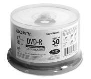 Sony 50 tulostettavan DVD-R-LEVYN pakkaus