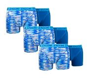 Zaccini 6-PACK BOXERSHORTS CURVE BLUE SPECIAL DEAL!!, Large (Blauw, Wit, Large)
