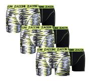 Zaccini 6-PACK BOXERSHORTS CURVE LIME, Small (Blauw, Wit, Small)