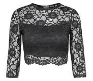 Boohoo Shirt 'ALL OVER LACE CROP'