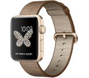 Apple Watch Series 2 42mm Gold Aluminium with Coffee/Caramel Woven Nylon Band
