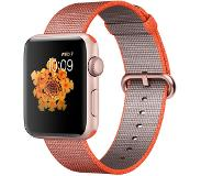 Apple Watch Series 2 42mm Rose Gold Aluminium with Orange/Anthracite Woven Nylon Band