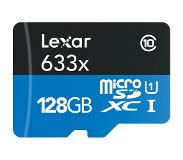 Lexar High Performance Micro SD kaart 128GB met SD adapter