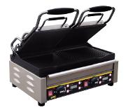 Buffalo Dubbele Contact Grill - Geribd /Glad