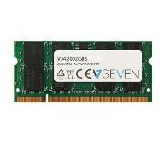 V7 RAM-geheugen: 2GB DDR2 PC2-4200 533Mhz SO DIMM Notebook Memory Module -42002GBS - Groen