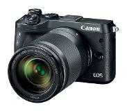 Canon EOS M6 + EF-M 18-150mm 1:3.5-6.3 IS STM MILC 24,2 MP CMOS 6000 x 4000 Pixels Zwart