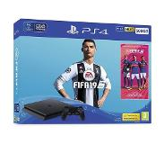 Sony PlayStation 4 Slim + FIFA 19 500GB - Zwart