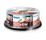 Philips DVD+RW Cakebox 25 (4,7 GB) recordable DVD Transparant