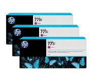 hp 771C 3-pack 775-ml Magenta Designjet Ink Cartridges
