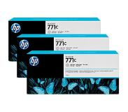 hp 771C 3-pack 775-ml Light Gray Designjet Ink Cartridges