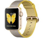 Apple Watch Series 2 38mm Gold Aluminium with Yellow/Grey Woven Nylon Band