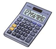 Casio MS-100TERII Desktop Basisrekenmachine Metallic calculator