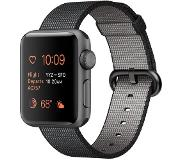 Apple Watch Series 2 38mm Grey Aluminium with Black Woven Nylon Band