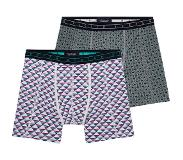 Scotch & soda 2-PACK MOTIF BOXERSHORT TRIANGLE AND BLOCKS (Rood, Groen, Grijs, Paars, Large)