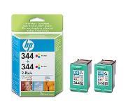 HP 344 originele drie-kleuren inktcartridges, 2-pack