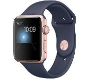 Apple Watch Series 2 42mm Rose Gold Aluminium with Blue Sport Band