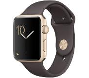 Apple Watch Series 2 42mm Gold Aluminium with Cocoa Sport Band