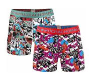 Muchachomalo 2-pack boys Autumn winter (Rood, Print, Turquoise, 134/140)