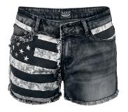 Rock Rebel by EMP Feel Good Hit Of The Summer Girls hotpants zwart