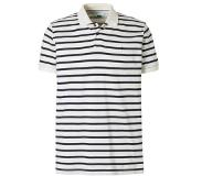 Esprit regular fit polo Wit/donkerblauw XL