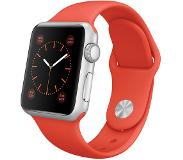 Apple Watch 38mm Silver Aluminium with Orange Sport Band