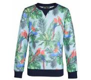 We fashion sweater Groen/blauw 110/116