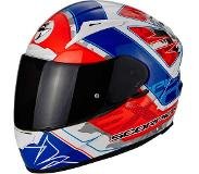 Scorpion Integraalhelm EXO-2000 Evo Air Brutus Pearl White/Neon Red/Blue-S