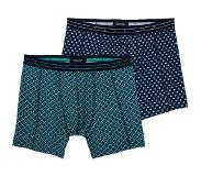 Scotch & soda 2-PACK GRAPHIC & BLOCKS, Small (Blauw, Groen, Small)