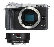 Canon EOS M6 zilver + EF-EOS M mount adapter