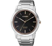 Citizen Horloges Ecodrive Citizen AW2024-81E horloge Eco-Drive Zwart Rose Titanium