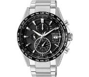 Citizen Horloges Ecodrive Citizen Radio Controlled AT8154-82E horloge Eco-Drive Titanium Zwart