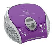 Lenco SCD-24 Portable CD player Paars, Zilver