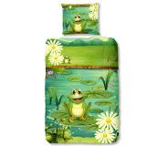 Good Morning Dekbedovertrek 5610-P Frogs 140x200/220 cm groen