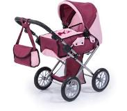 Bayer poppenwagen City Star bordeaux/roze 81 cm