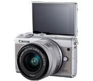 Canon EOS M100 Body + 15-45mm - Zilver