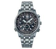 Citizen Horloges Ecodrive Citizen Radio Controlled AS4020-52E Horloge Chrono Edelstaal