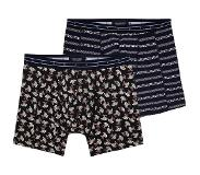 Scotch & soda 2-Pack MOTIF BOXERSHORT (Navy, Blauw, Large)
