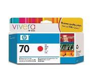 HP 70 rode inktcartridge met Vivera inkt, 130 ml