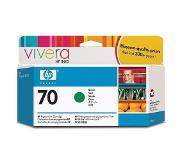 HP 70 groene inktcartridge met Vivera inkt, 130 ml