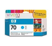 HP 70 cyaan inktcartridge met Vivera inkt, 130 ml