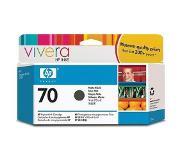 HP 70 matzwarte inktcartridge met Vivera inkt, 130 ml