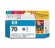 HP 70 grijze inktcartridge met Vivera inkt, 130 ml