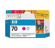 HP 70 magenta inktcartridge met Vivera inkt, 130 ml