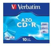 Verbatim CD-R AZO Crystal CD-R AZO 700MB 10stuk(s)