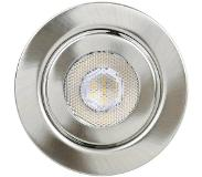 Tlt international Opia LT1153537 LED-inbouwlamp Set van 3 12 W Warm-wit Nikkel (geborsteld)