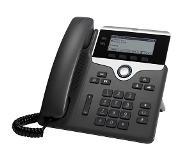 Cisco 7821 2linjat Wired handset Musta, Hopea