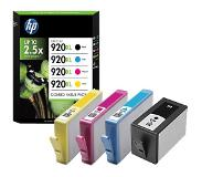 hp 920XL originele high-capacity zwarte/cyaan/magenta/gele inktcartridges, 4-pack